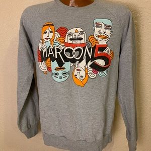 Maroone 5 Overexposed Concert Crewneck Sweater.